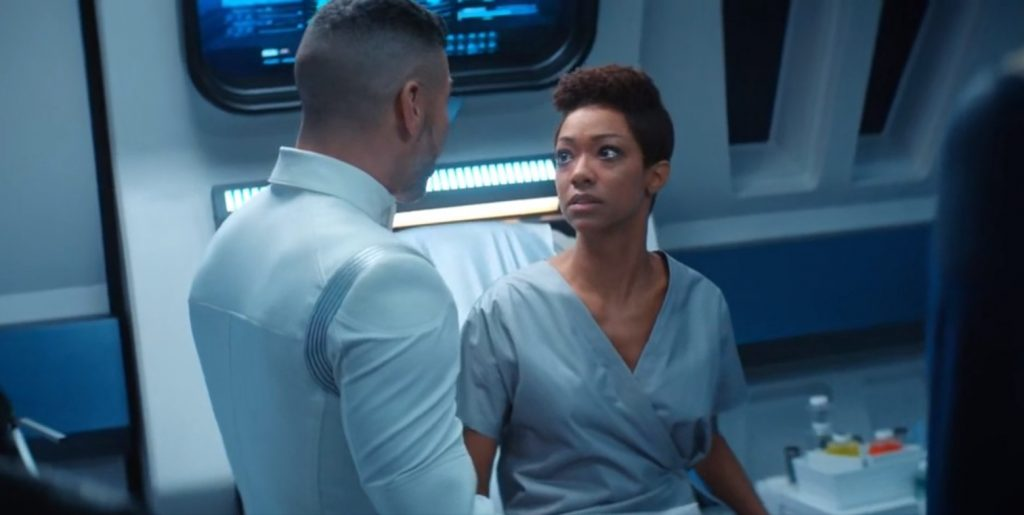 Michael Burnham and Hugh Culber discuss some pretty serious topics in Perpetual Infinity
