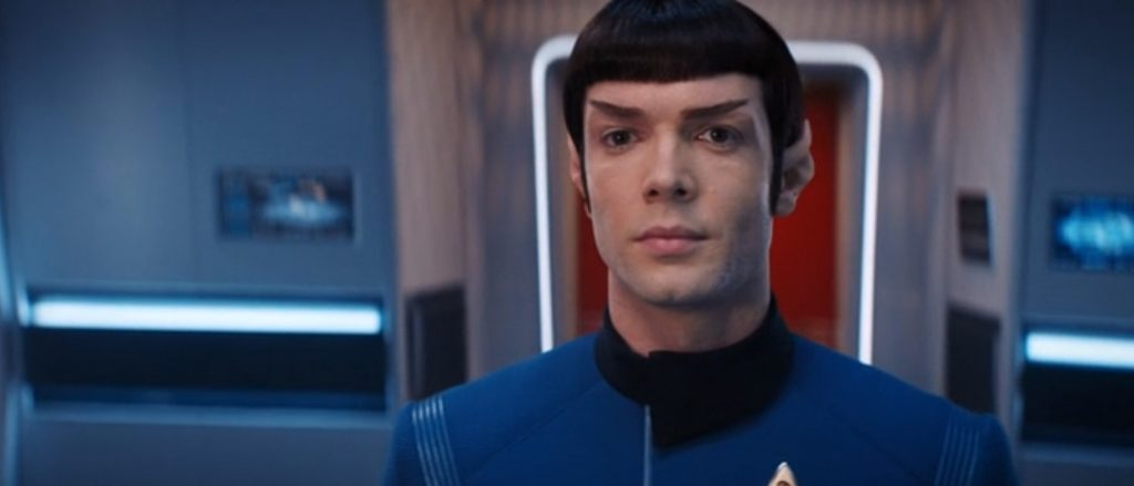 Ethan Peck as Spock in the Star Trek Discovery season finale Such Sweet Sorrow